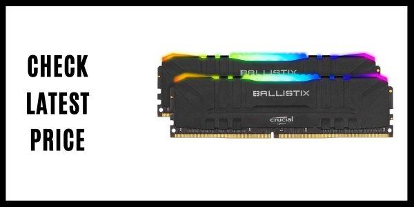 Crucial Ballistix BL2K8G36C16U4BL RGB 3600 MHz DDR4 DRAM Desktop Gaming Memory Kit