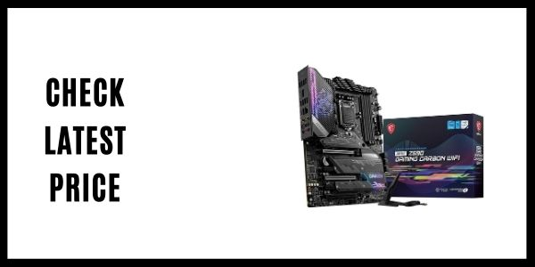 MSI MPG Z590 Gaming Carbon WiFi Gaming Motherboard